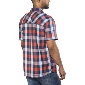 Meru Kilkis Chemise à manches courtes Homme, orange big check